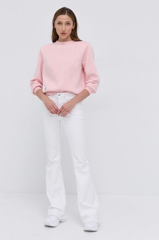 Guess - Bluza ostry różowy