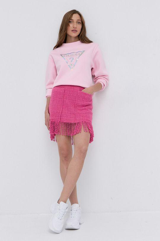 Guess - Bluza różowy