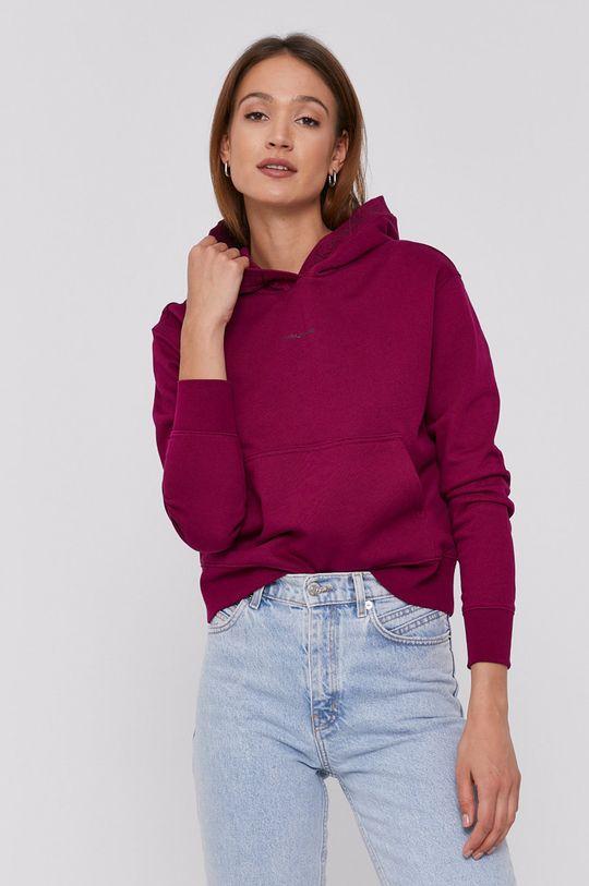 purpurowy Calvin Klein Jeans - Bluza Damski