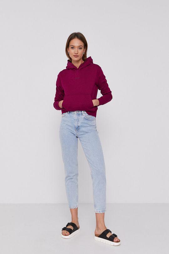 Calvin Klein Jeans - Bluza purpurowy