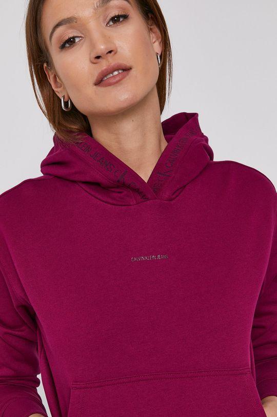 purpurowy Calvin Klein Jeans - Bluza