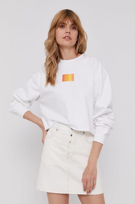 bílá Calvin Klein Jeans - Bavlněná mikina Dámský