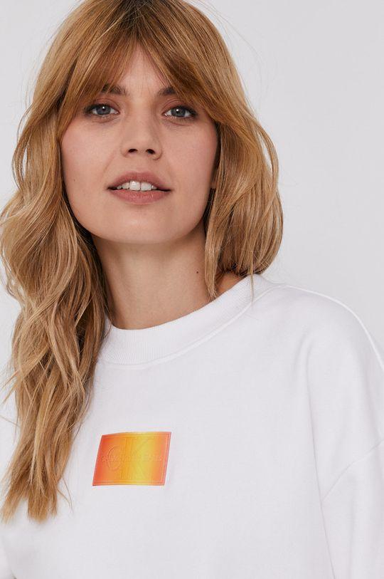 bílá Calvin Klein Jeans - Bavlněná mikina