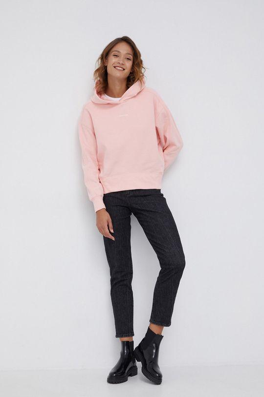 Calvin Klein Jeans - Bluza bawełniana różowy
