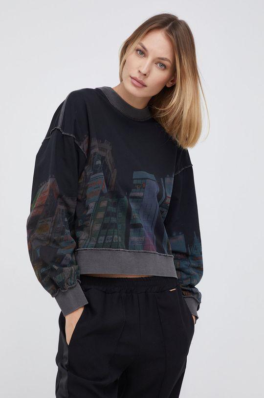 czarny Desigual - Bluza bawełniana Damski