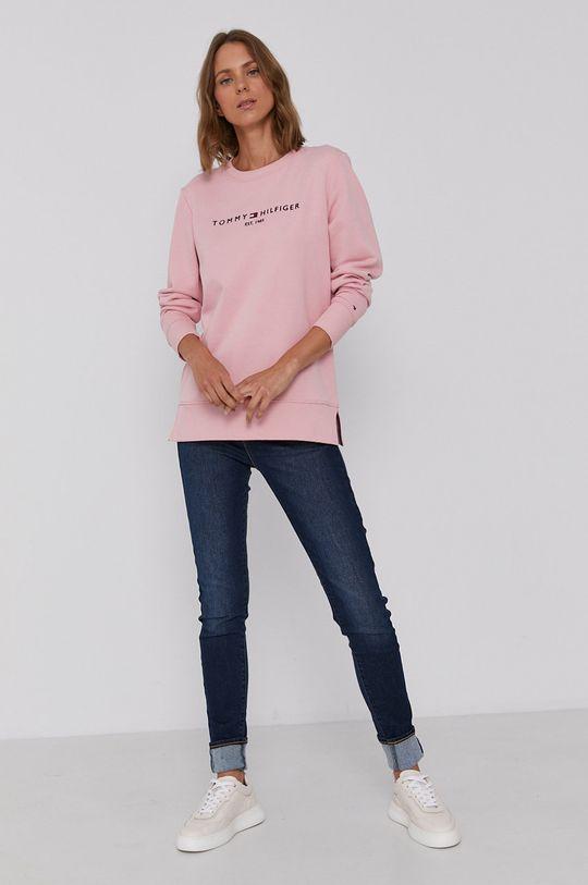 Tommy Hilfiger - Bluza bawełniana różowy