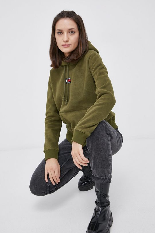 oliwkowy Tommy Jeans - Bluza