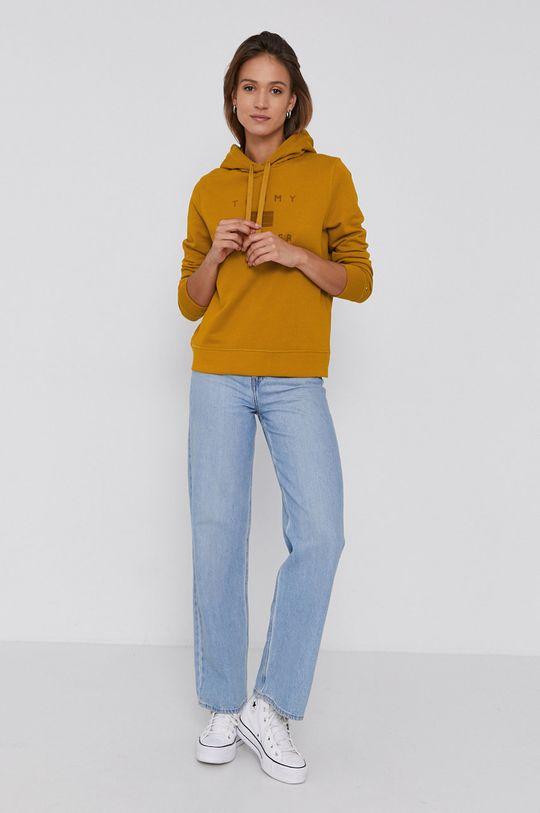 Tommy Hilfiger - Bluza bawełniana pomarańczowy