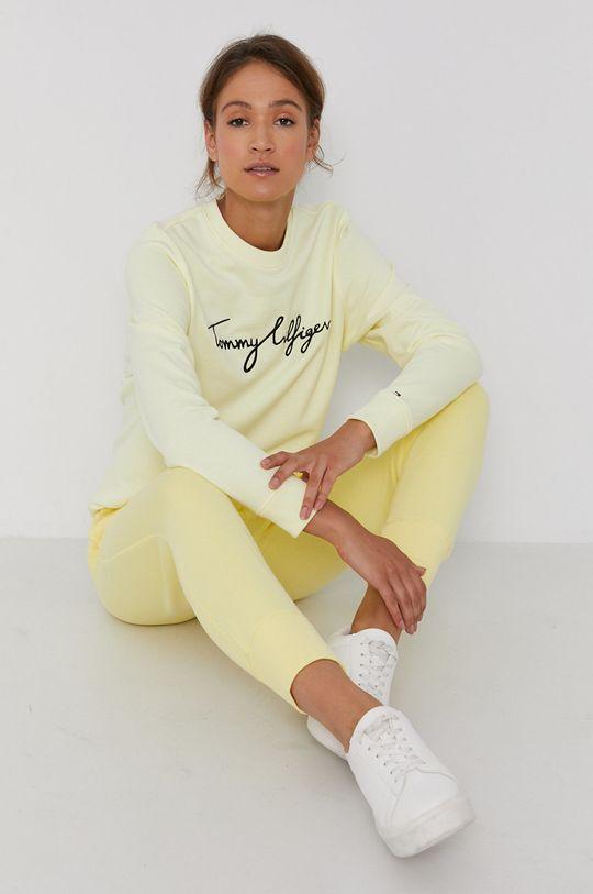 jasně žlutá Tommy Hilfiger - Bavlněná mikina Dámský