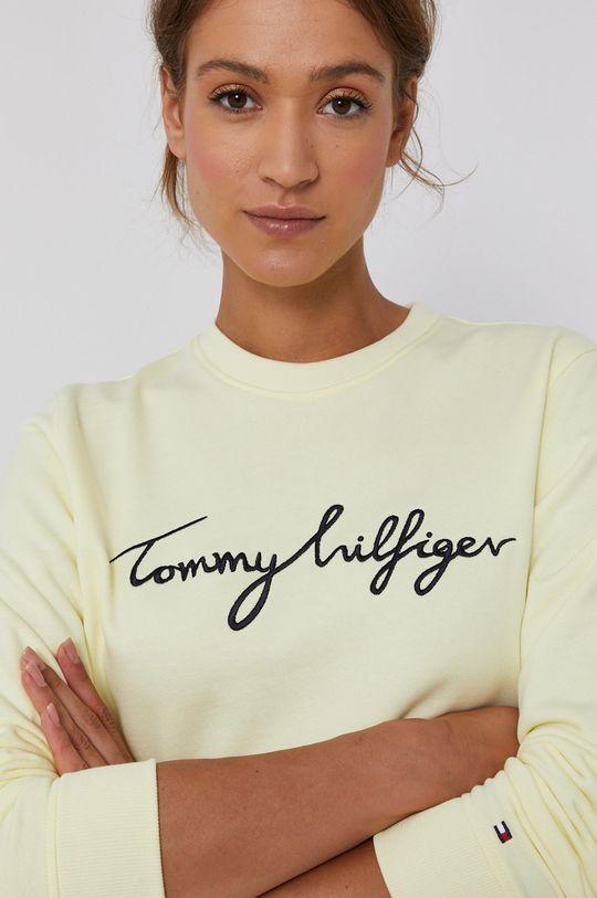 jasně žlutá Tommy Hilfiger - Bavlněná mikina
