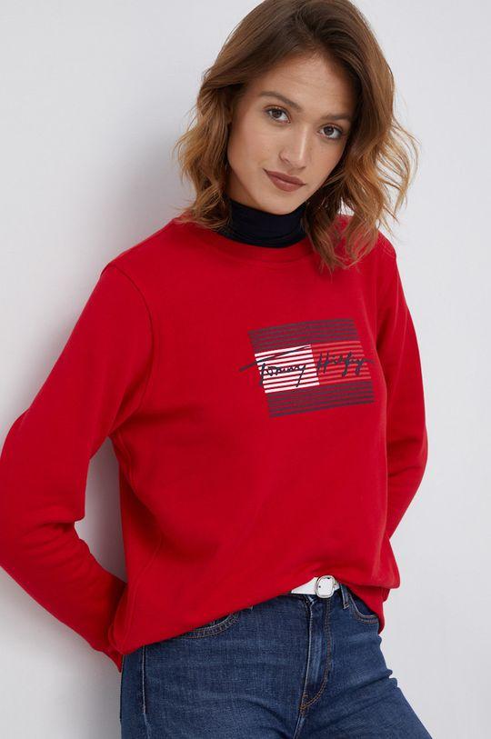 czerwony Tommy Hilfiger - Bluza bawełniana Damski