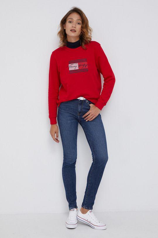 Tommy Hilfiger - Bluza bawełniana czerwony