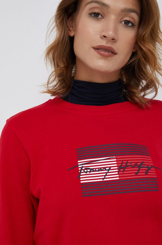 czerwony Tommy Hilfiger - Bluza bawełniana