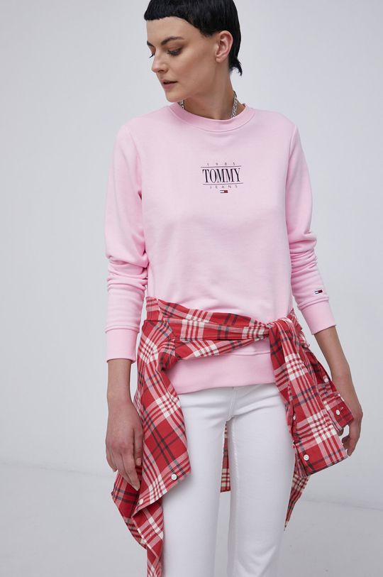 różowy Tommy Jeans - Bluza