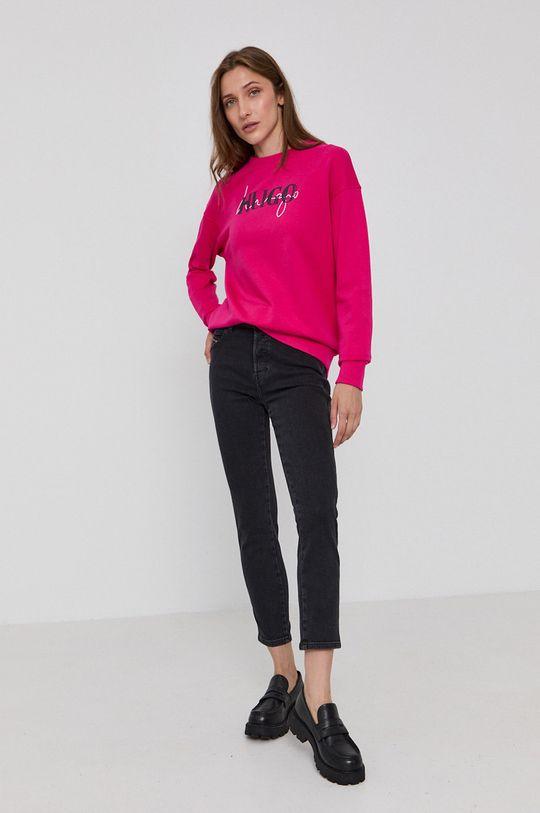 Hugo - Bluza ostry różowy