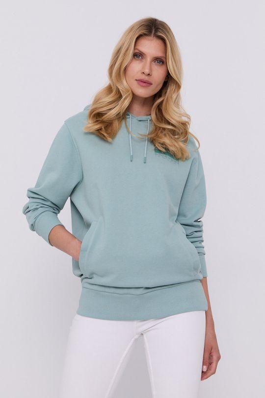zielony Hugo - Bluza bawełniana Damski
