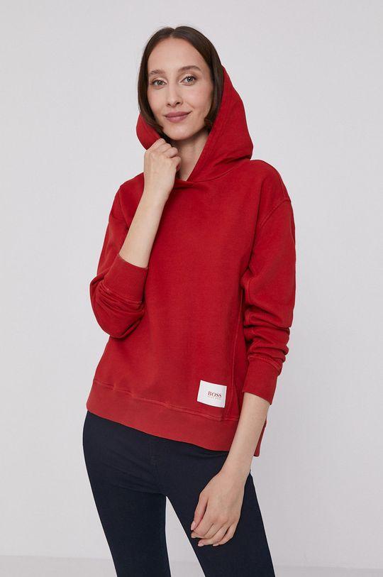 czerwony Boss - Bluza bawełniana Damski