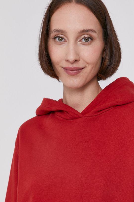 czerwony Boss - Bluza bawełniana