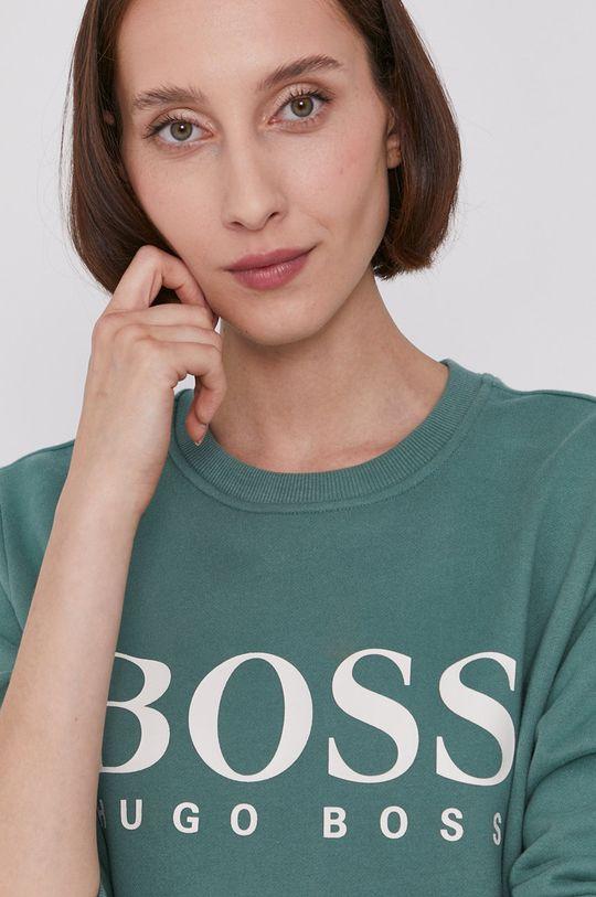 brudny zielony Boss - Bluza bawełniana