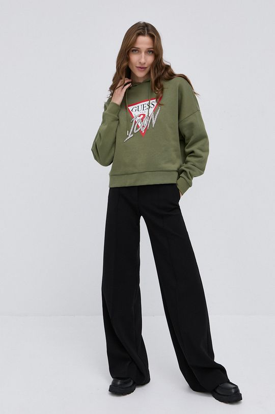 Guess - Bluza verde inchis