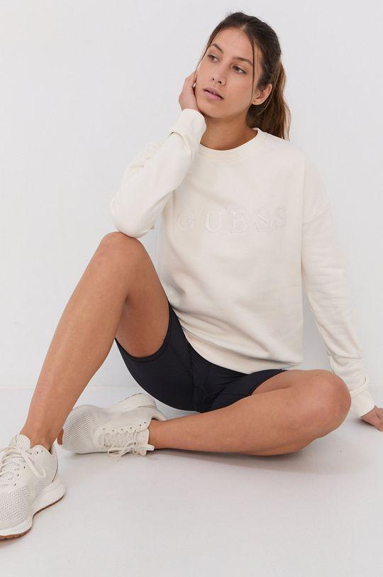 biały Guess - Bluza bawełniana Damski