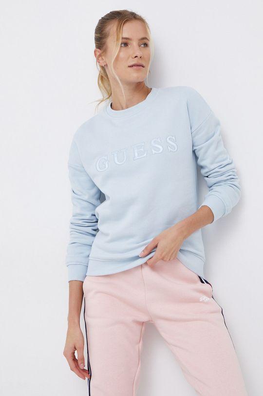 jasny niebieski Guess - Bluza bawełniana Damski