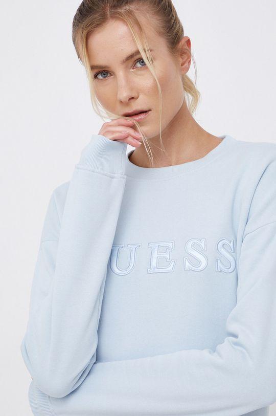 jasny niebieski Guess - Bluza bawełniana