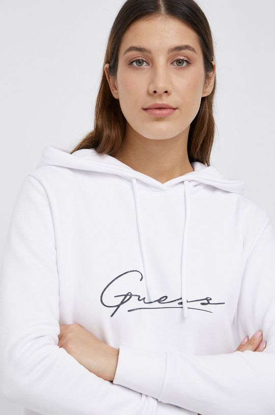 biały Guess - Bluza bawełniana