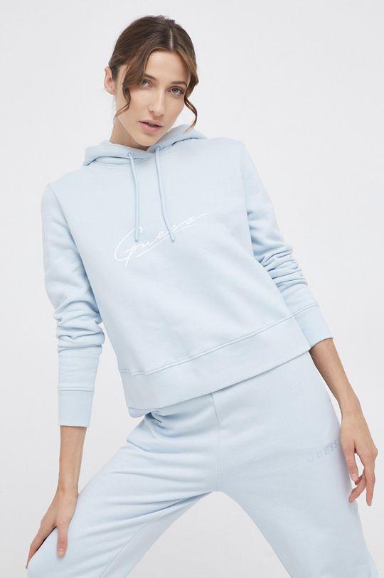 blady niebieski Guess - Bluza bawełniana Damski
