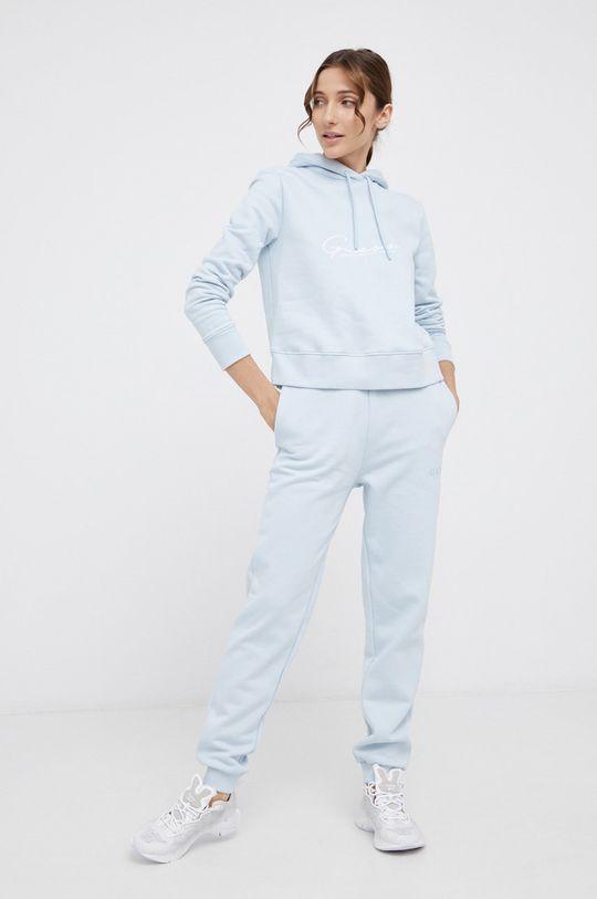 Guess - Bluza bawełniana blady niebieski