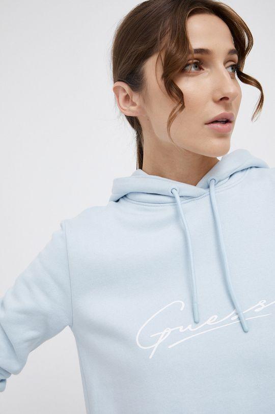 blady niebieski Guess - Bluza bawełniana