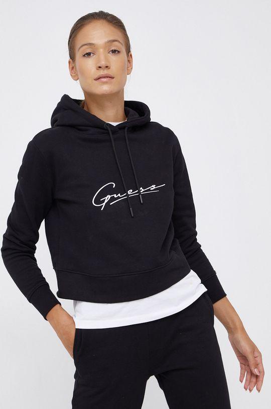 Guess - Bluza bawełniana czarny