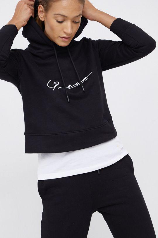 czarny Guess - Bluza bawełniana