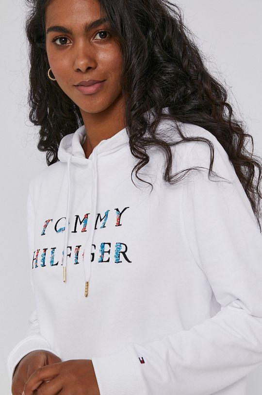 biela Tommy Hilfiger - Bavlnená mikina
