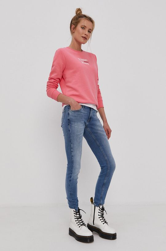 Tommy Jeans - Bluza różowy