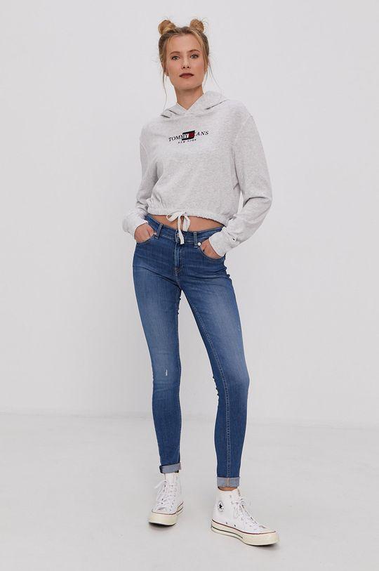 Tommy Jeans - Bluza bawełniana szary