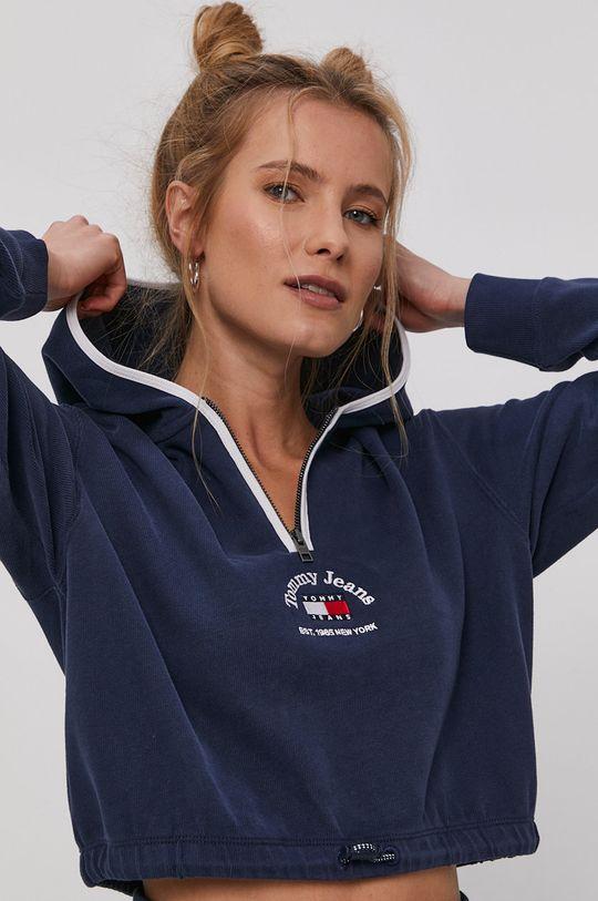 námořnická modř Tommy Jeans - Bavlněná mikina Dámský