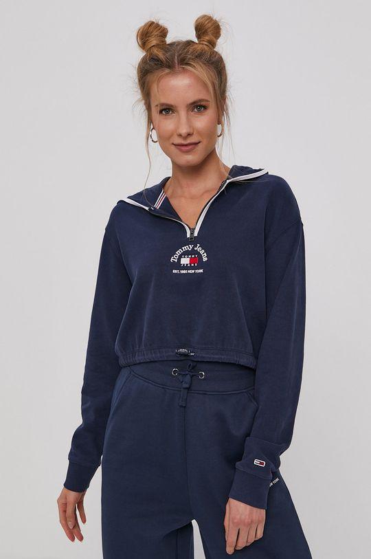 námořnická modř Tommy Jeans - Bavlněná mikina