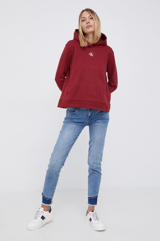 Calvin Klein Jeans - Bluza kasztanowy