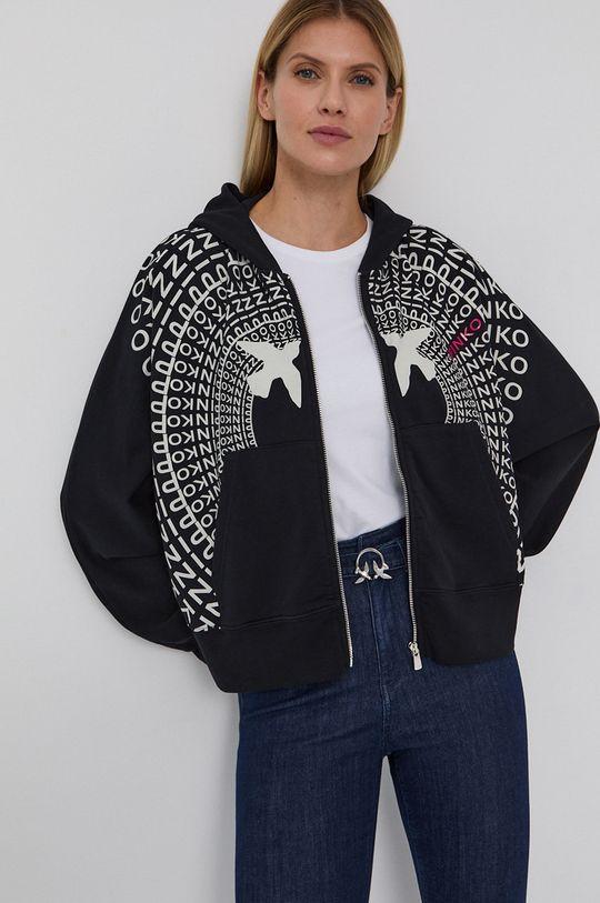 czarny Pinko - Bluza bawełniana Damski