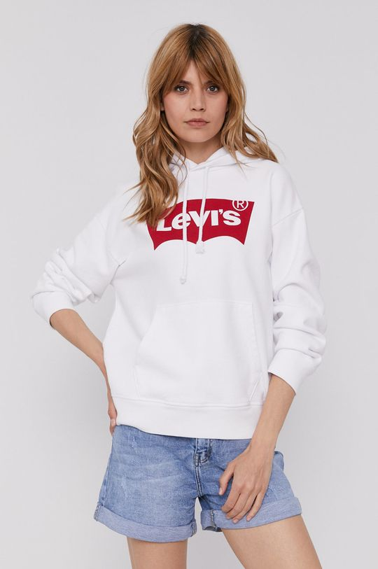 biały Levi's - Bluza bawełniana Damski
