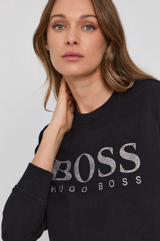 čierna Boss - Bavlnená mikina