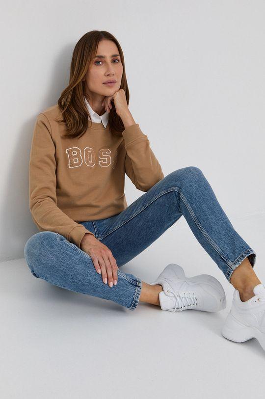 beżowy Boss - Bluza bawełniana