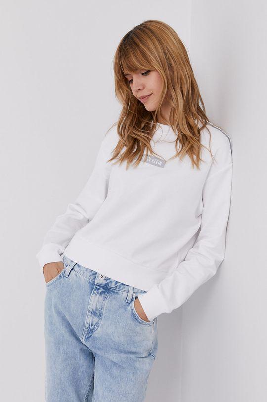 biały Calvin Klein Performance - Bluza bawełniana Damski