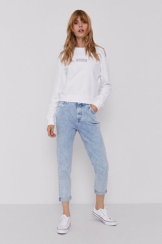 Calvin Klein Performance - Bluza bawełniana biały