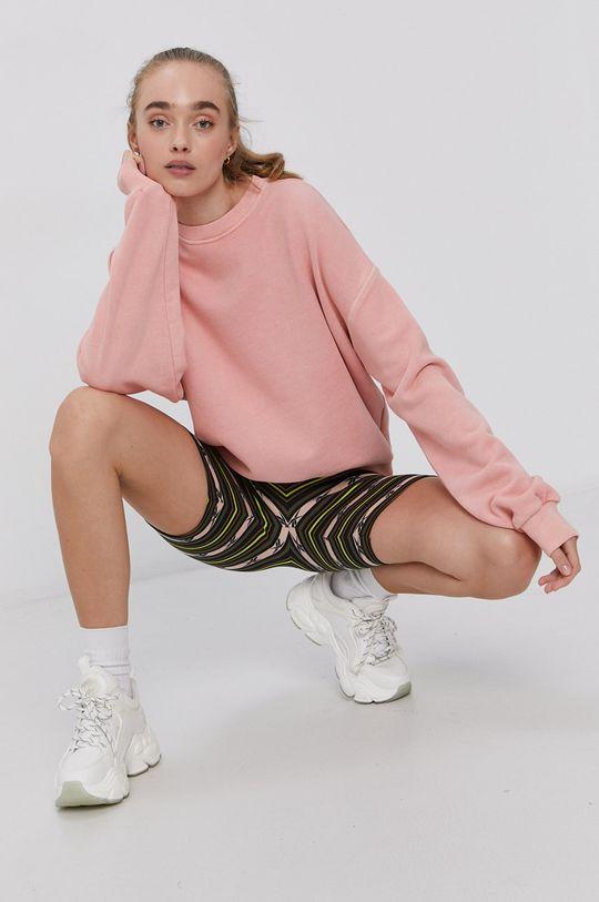 pastelově růžová Reebok Classic - Bavlněná mikina Dámský