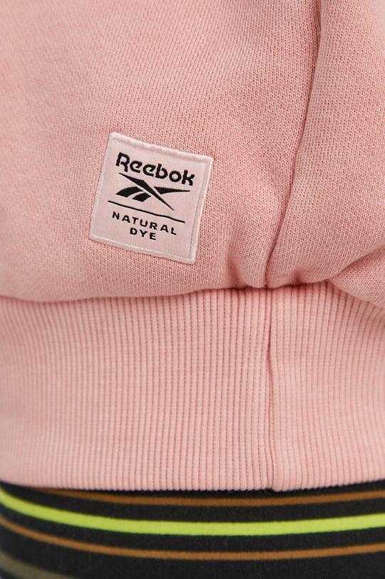 pastelově růžová Reebok Classic - Bavlněná mikina