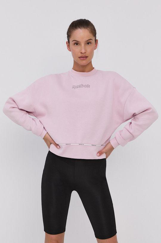 Reebok - Mikina pastelově růžová