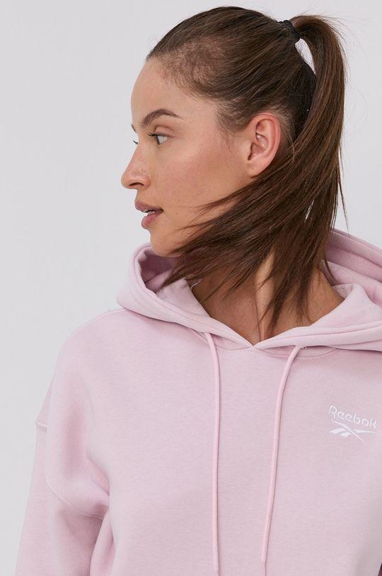pastelově růžová Reebok - Mikina