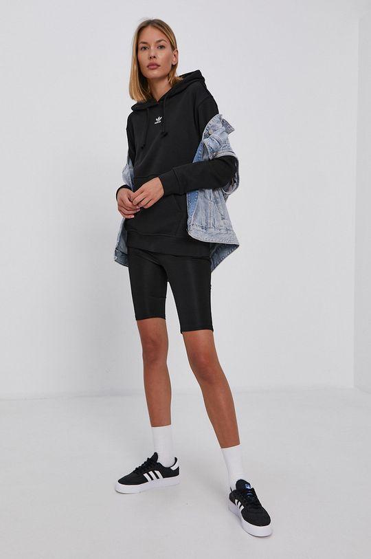 adidas Originals - Hanorac de bumbac negru